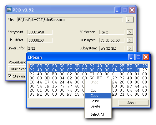 EPScan screenshot